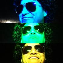 colorful picture of bruno mars look alike johnny rico